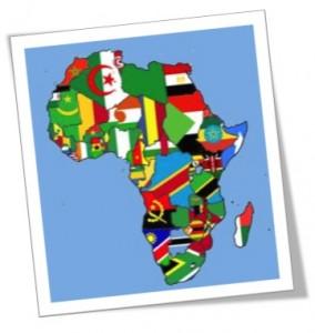 carte afrique drapeau